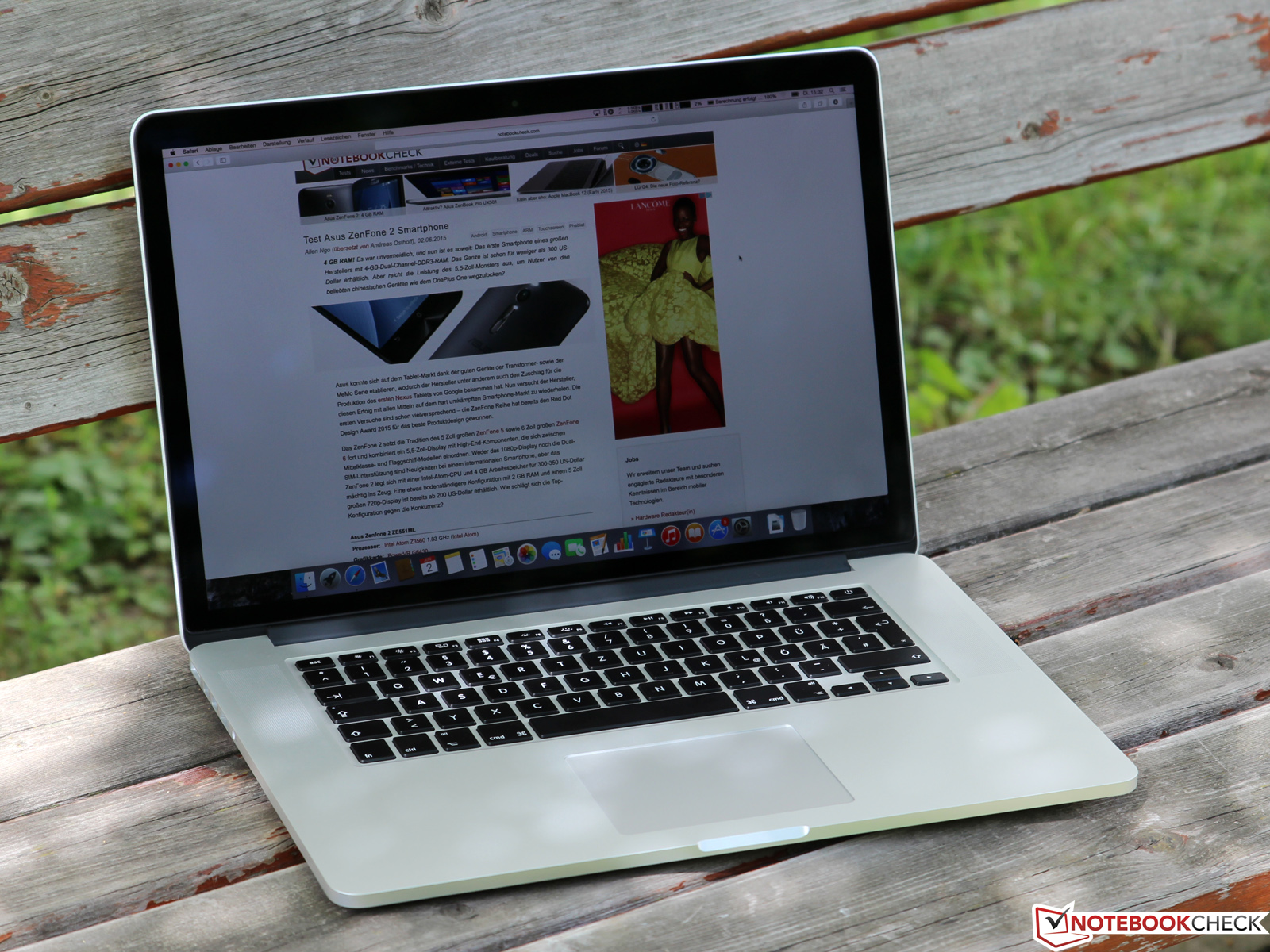 critique compl te du pc portable apple macbook pro retina 15 mi 2015. Black Bedroom Furniture Sets. Home Design Ideas