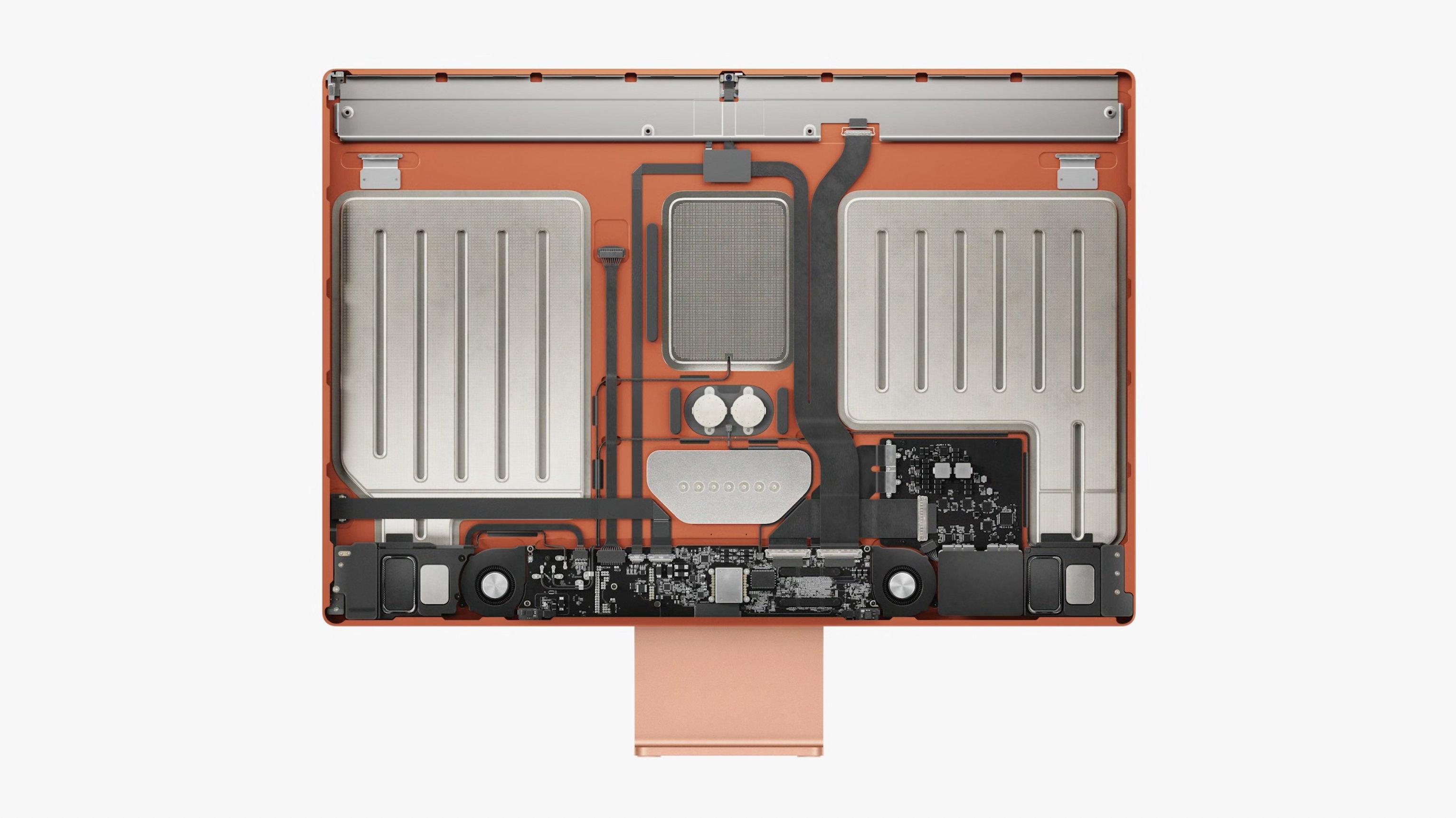 """Un ingénieur révèle les entrailles du nouvel iMac en montrant le """"menton""""  qui contient la carte logique M1 - NotebookCheck.net News"""