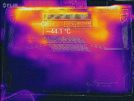 Thermal image of underside.