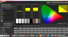CalMAN ColorChecker before calibration (standard mode)