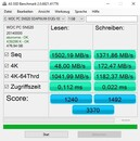 MSI PS63 Modern 8SC - AS SSD benchmark.