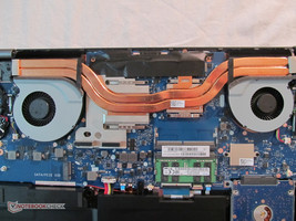 The cooling system in the GL702VS is anemic...