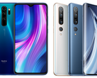 The Redmi Note 8 Pro and Xiaomi Mi 10 Pro top their respective charts for price/performance. (Image source: Xiaomi)