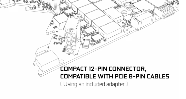NVIDIA unveiled its new 12-pin connector ahead of last week's GeForce Special Event. (Image source: NVIDIA)