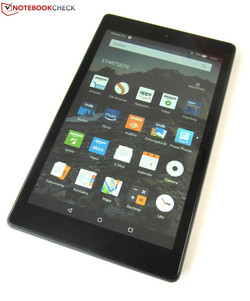 En test : l'Amazon Fire HD 8 (2017). Modèle de test aimablement fourni par Amazon Allemagne.