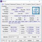 Dell XPS 15 9570 - CPU-Z : CPU.