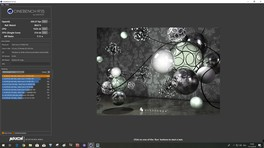 Résultats Cinebench R15 de l'Intel Core i7-9700K Advanced Pre-Test Edition - 5.0 GHz à 1,34 V.