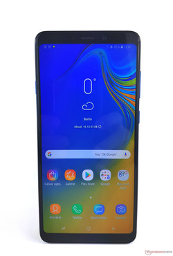 En test : le Samsung Galaxy A9 2018. Modèle de test aimablement fourni par notebooksbilliger.de.