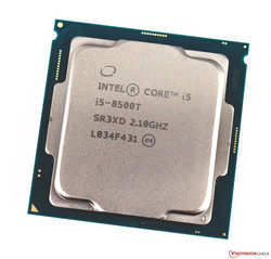 En test : l'Intel Core i5-8500T de bureau. Modèle de test aimablement fourni par caseking.de.