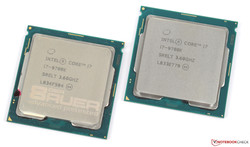 En test : l'Intel Core i7-9700K. Modèle de test aimablement fourni par Caseking.de.