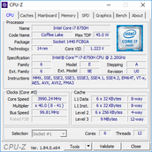 ThinkPad P52 - CPU-Z.