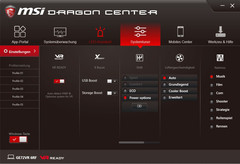 MSI Dragon Center, System Tuner