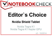 Choix de la rédaction - Octobre 2014 : la Nvidia Shield Tablet.