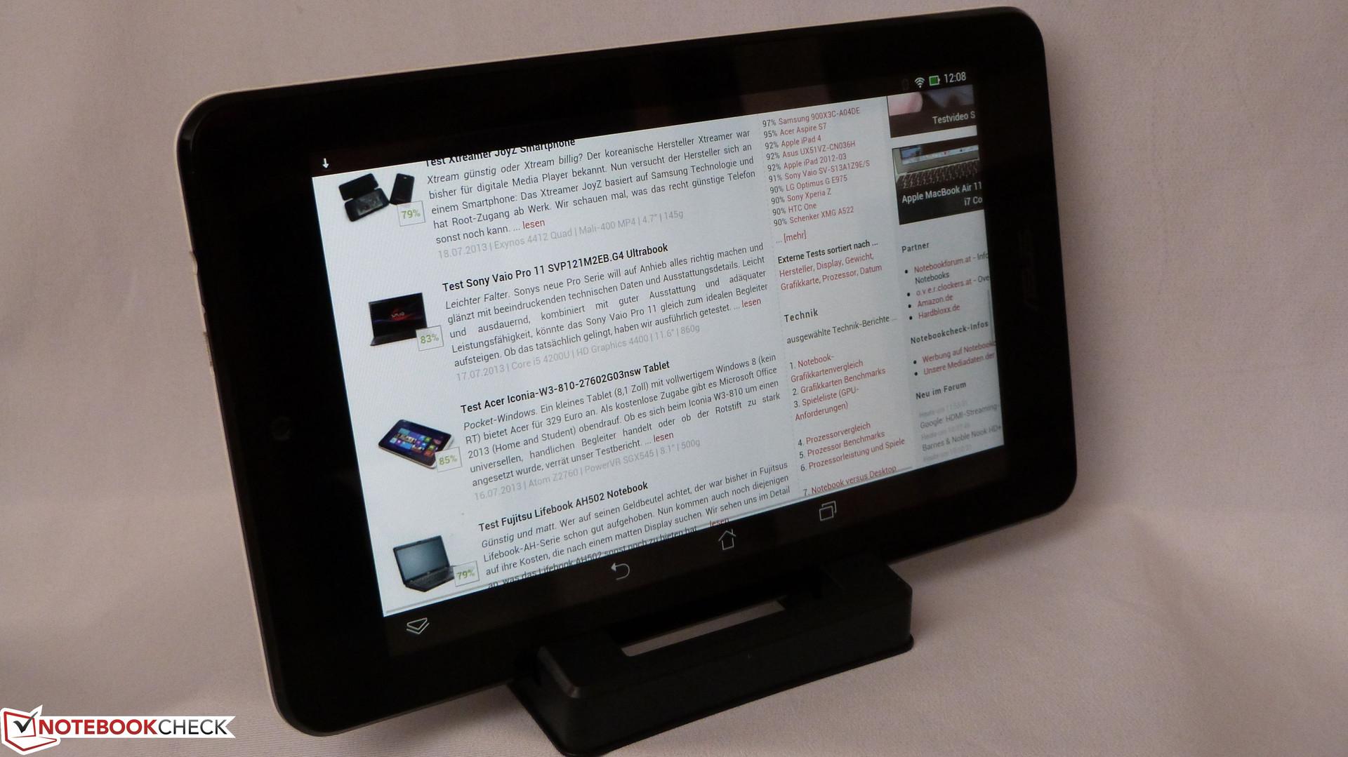 Courte critique de la tablette asus memo pad hd 7 - Tablette a petit prix ...
