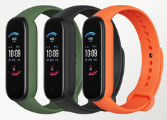 L'Amazfit Band 6 est disponible en olive, noir minuit et orange. (Source de l'image : AliExpress)