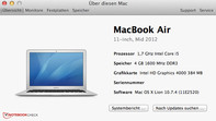 Systeminfo about this Mac